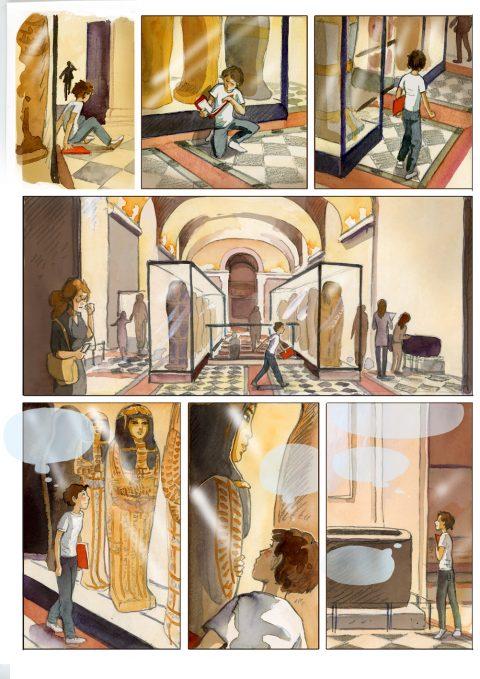 12- Isabelle Dethan, Gaspard et la malédiction du prince fantôme © Isabelle Dethan - Editions Delcourt - Musée du Louvre Editions 2017