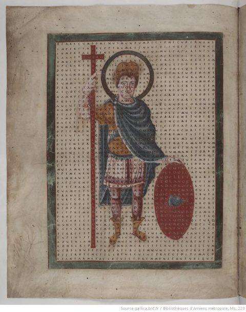 Liber de Laudibus Sanctae Crucis, Amiens, Bibliothèque Municipale, MS223, fol.3v (BnF)
