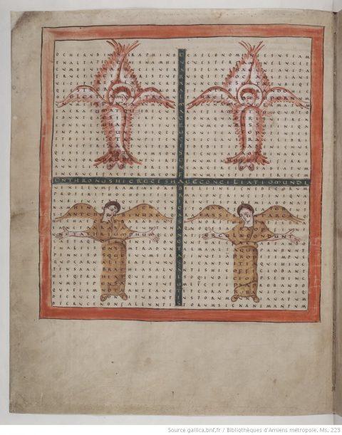 Liber de Laudibus Sanctae Crucis dans la copie conservée à Amiens, Bibliothèque Municipale, MS223, fol.9v