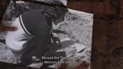 """Photogramme du plan final de """"Fragments de mémoire"""", remployé et modifié dans """"En quête de la Septième porte""""."""