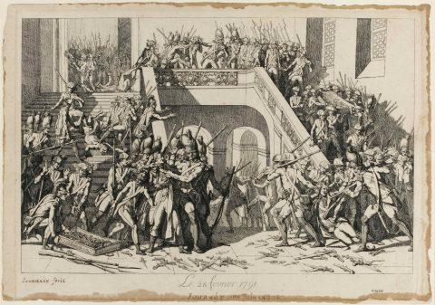 Jourdain, Le 28 février 1791, gravure, 1791. Paris, Bibliothèque nationale de France.