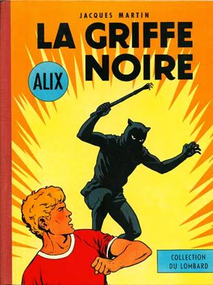 Deux couvertures de La griffe noire : Le Lombard, 1959 ; Casterman, 1965.